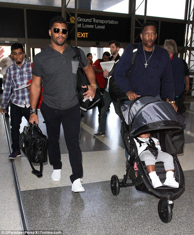 Around the world: Meanwhile back in the US, pictures that are sure to upset her baby daddy Future were emerging of their 21-month-old son about to board a plane with Ciara's boyfriend Russell Wilson