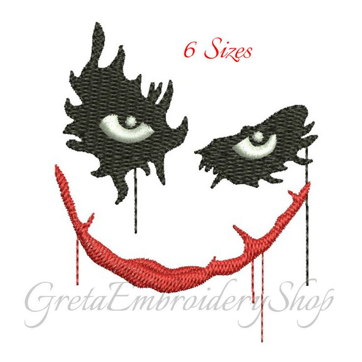 Batman embroidery designs,digital download,Batman embroidery,machine embroidery,Joker pattern,Harley Quienn design, Joker embroidery by GretaembroideryShop on Etsy