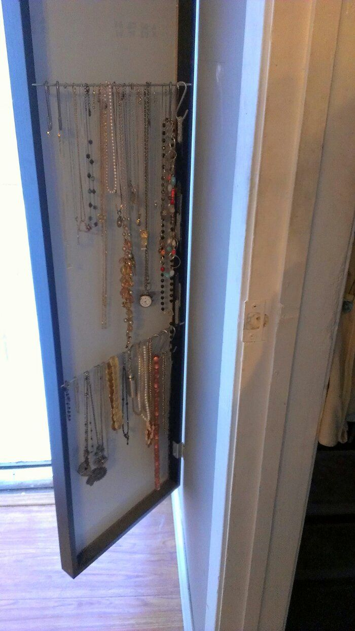 IKEA STAVE Mirror Hack Jewelry Case | MarlaneDesign