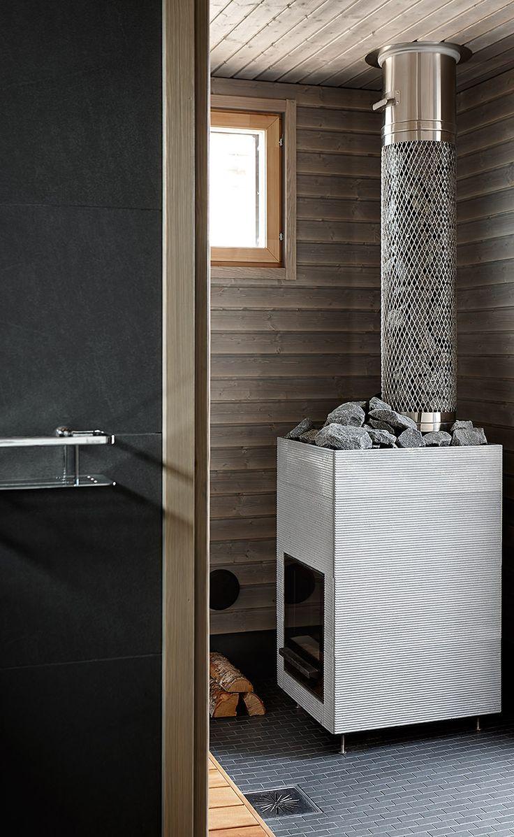 Härmä Air höydymoduuli lisää kiukaaseen kivimassaa ja antaa todella pehmeät löylyt! Villa Atrium, kohde 2. www.harmaair.com #lomaasuntomessut #kalajoki