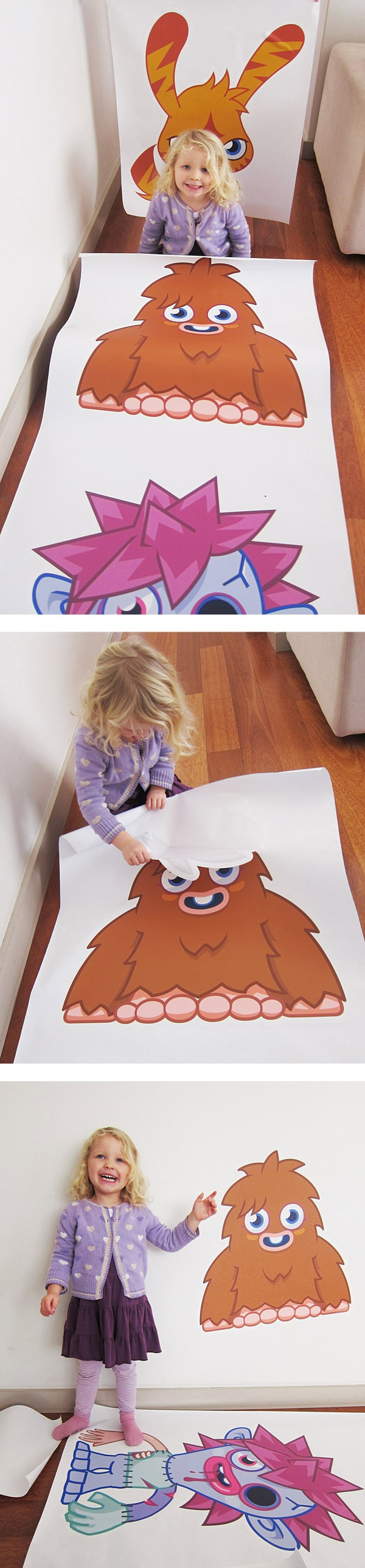 Moshi Monsters + Moshlings Premium Wall Graphics from