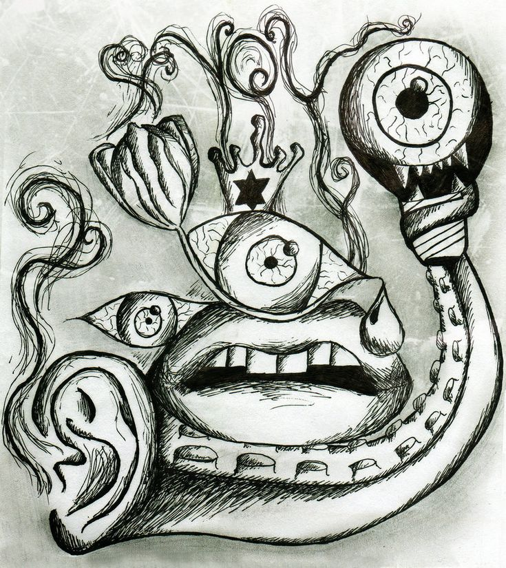 Trippy Abstract Drawings   Trippy Drawing by MartaVilao ...
