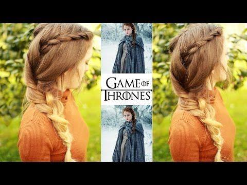 Game of Thrones : Sansa Stark Braided Hairstyle | Game of Thrones Hair | Braidsandstyles12 - YouTube  #gameofthrones #braid