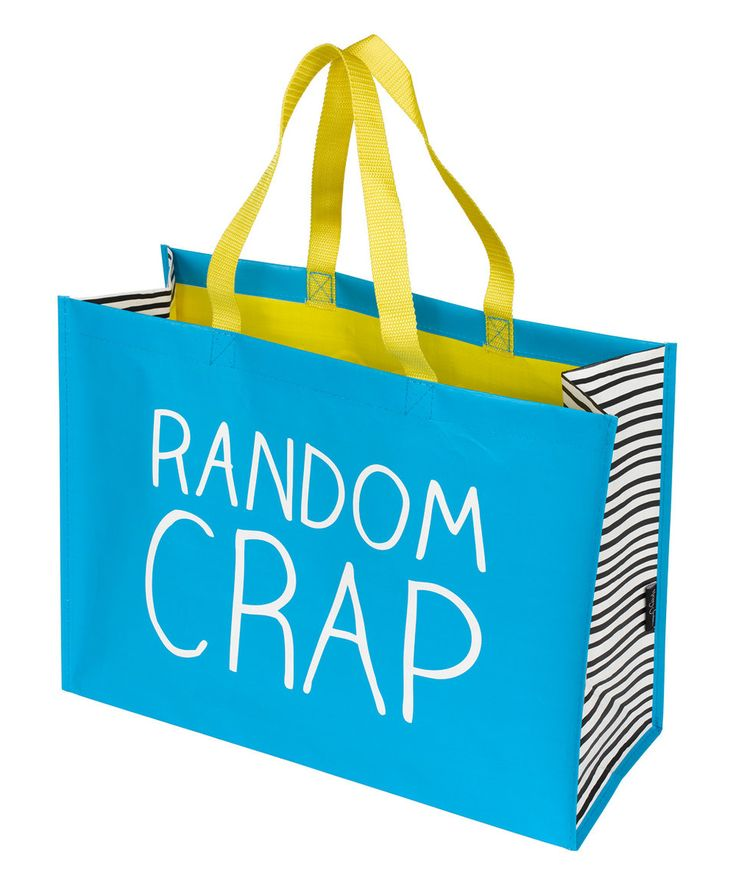 Lol. This is funny. Another great find on #zulily! 'Random Crap' Medium Stuff Tote Bag by Happy Jackson #zulilyfinds