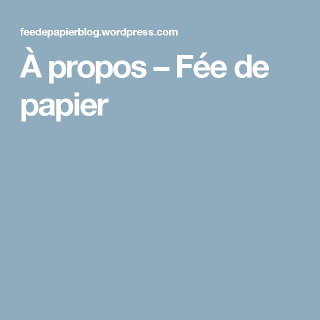 À propos – Fée de papier
