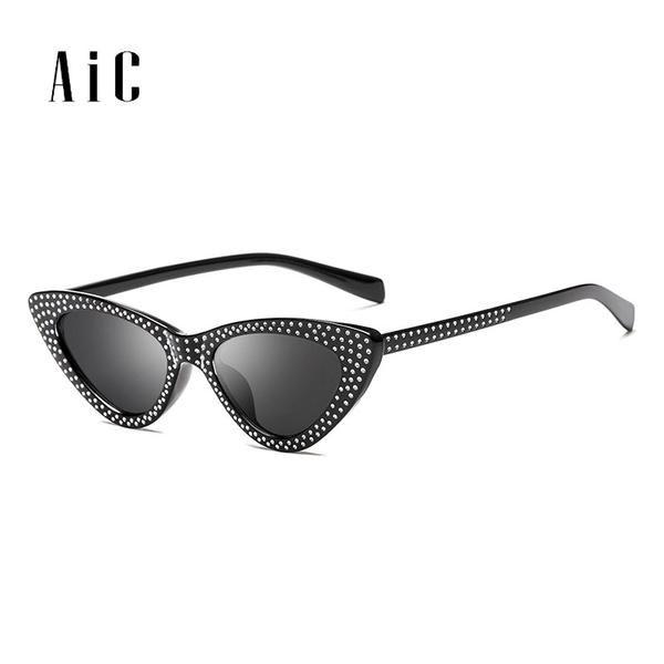 #FASHION #NEW Fashionable Cat Eye Sunglasses Women New Sunglasses Triangle with Diamond Sun glasses UV400