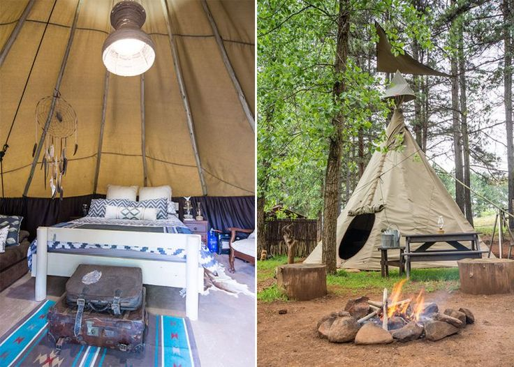 Group holiday accommodation - Little Wing Teepee Camp, Underberg