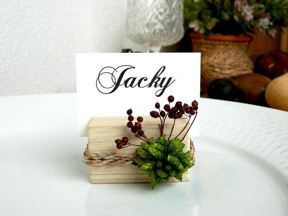 Evergreen - Green Wooden Card Holder by weddingsundae #Weddings #Decoration #natural #wedding #rustic #party #event #romantic #card #holder #green #autumn #nature #evergreen #placecard #garden $2.80