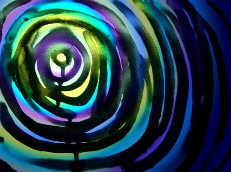 'Lichttunnel' von funkyzoo bei artflakes.com als Poster oder Kunstdruck $21.56