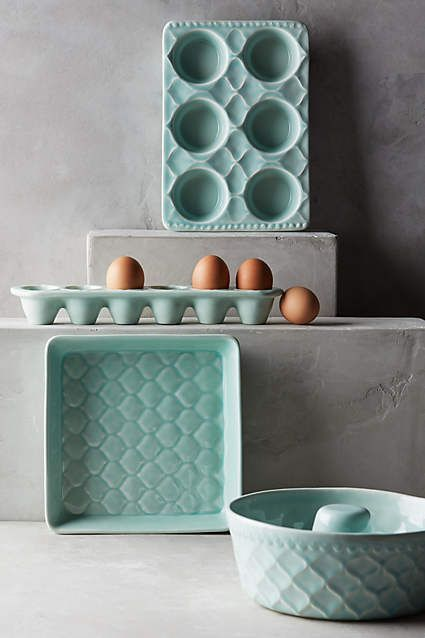 Adelaide Bakeware - anthropologie.com. So pretty, I NEED! http://amzn.to/2pfvyHP http://amzn.to/2spCmml