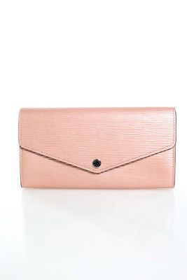 b6d35240fef Louis Vuitton Rose Nacre Epi Leather Sarah Wallet BY4347 In Box ...