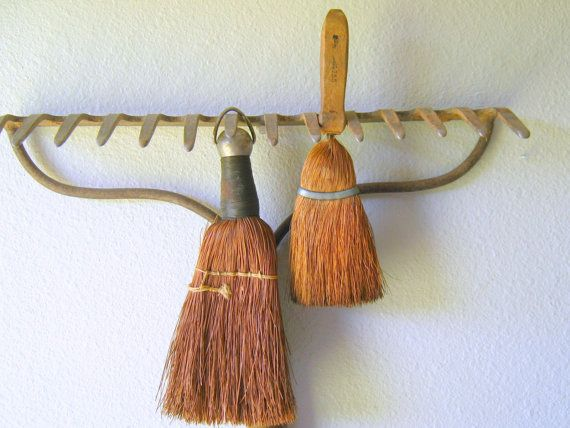 Primitive Vintage Whisk Brooms Farmhouse by RollingHillsVintage, $20.00