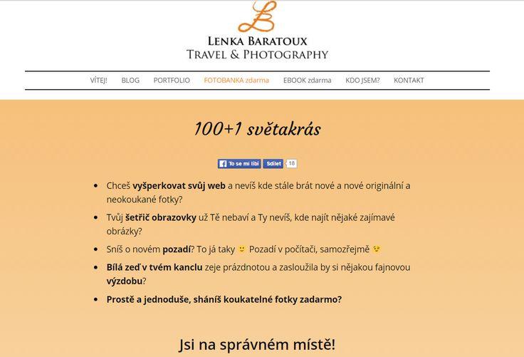 Lenka Baratoux a její ebook ZDARMA - 100 +1 světakrás