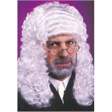 White Judge Wig Adult Halloween Accessory, Men's