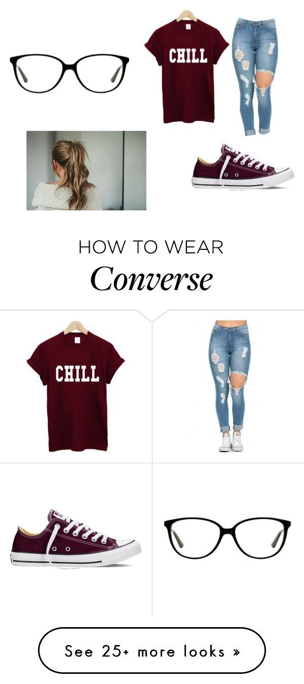 """""""Untitled #353"""" by aylaakayy on Polyvore featuring Converse, Vogue, women's clothing, women, female, woman, misses and juniors"""