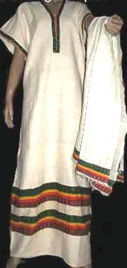 White with Ethiopian flag design Coffee dress Free shipping (ታላቅ ቅናሽ) 10% Discount