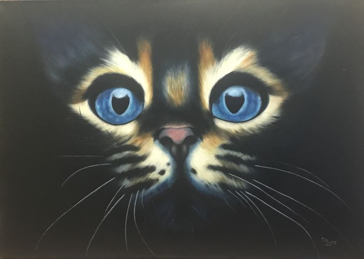 Darling Cat A1 size Oil painting