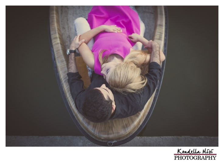 Budapest engagement session photography in a boat