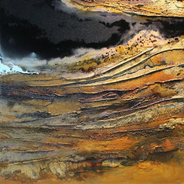 "CAROL NELSON FINE ART BLOG: Geologic petroleum abstract painting, ""Mineral Rights 2"" © Carol Nelson Fine Art"