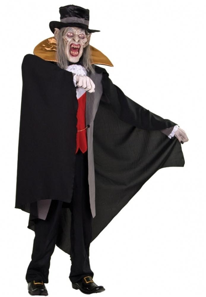 life sized count von mortis vampire animated prop - Discount Halloween Props