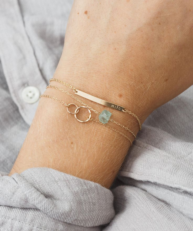 Unity Link Friendship Bracelet in Gold, Silver, or Rose Gold.  Handmade at whatever size you need!