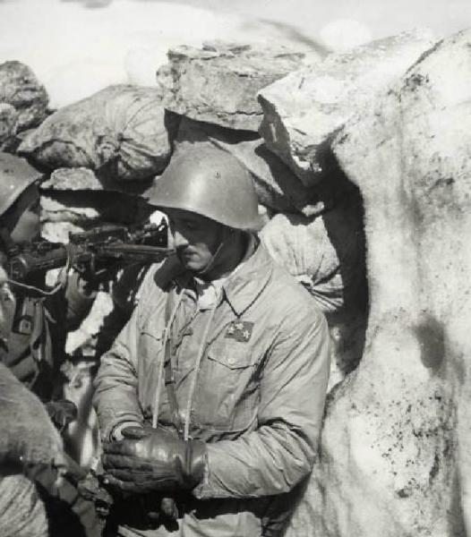 Divisione Julia positioned on mount Scendèli. Greek front. 01/03/1941 - 31/03/1941
