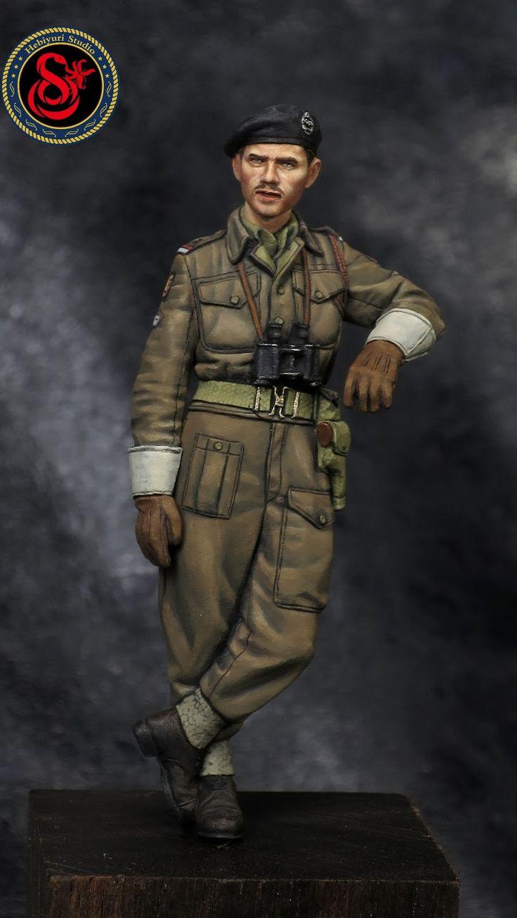 Hebiyuri Studio: British RAC AFV Crew #1(Alpine-Miniatures,1/35,Code:35178)