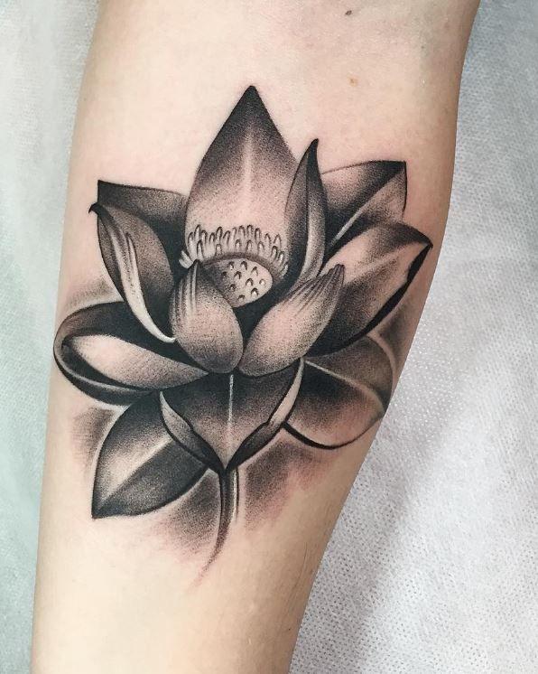 Stunning Lotus Flower Tattoo