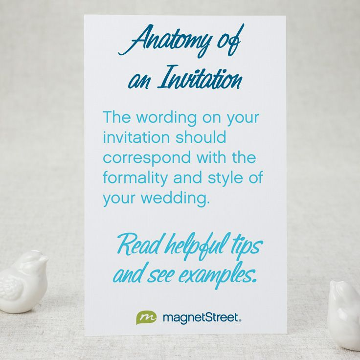 What goes in a wedding invitation? Read helpful tips and examples here!