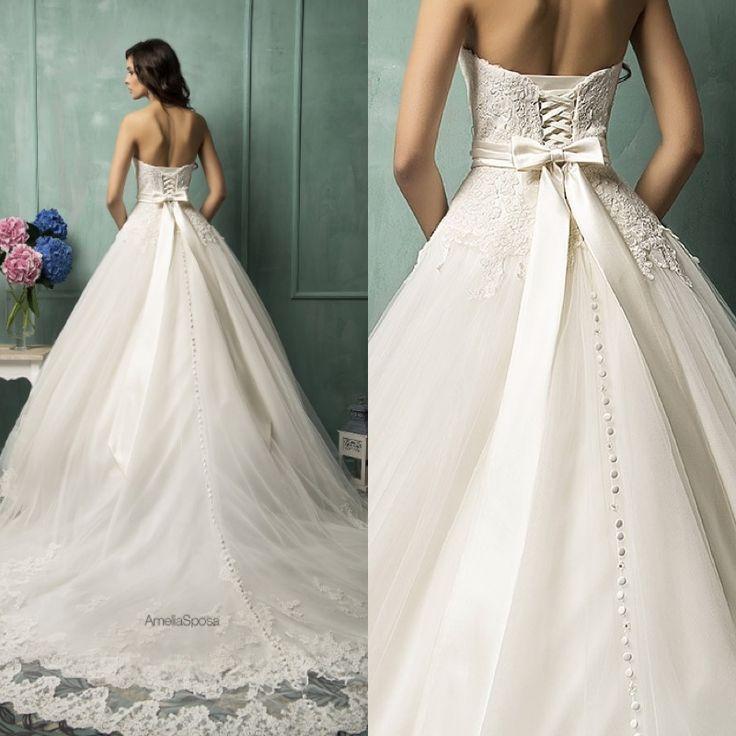 Best 20  Corset Back Wedding Dress ideas on Pinterest | Low back ...