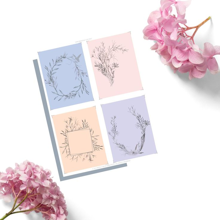 Create Your Own Affirmation Cards Printable Template 8.5 ...
