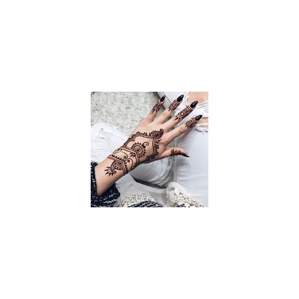 Henna Tattoo Selber Machen 40 Designs ❤ liked on Polyvore featuring accessories and body art