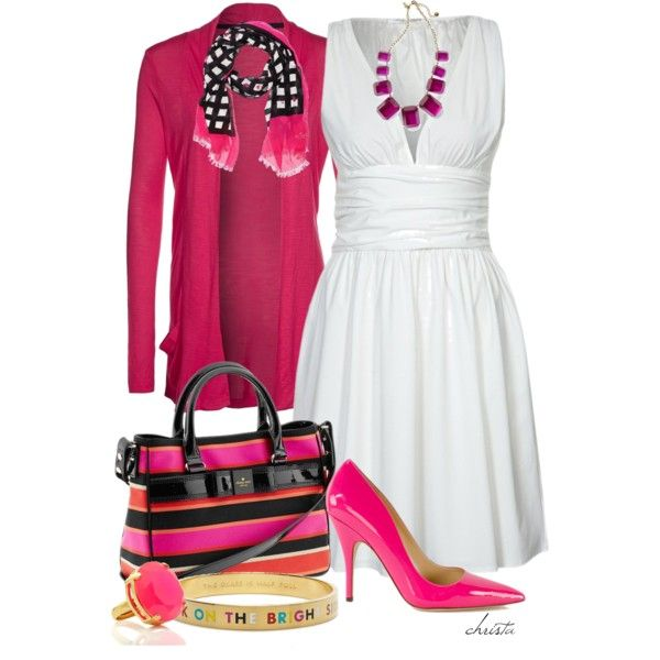 Love this Pink & the Contrast Combo <3