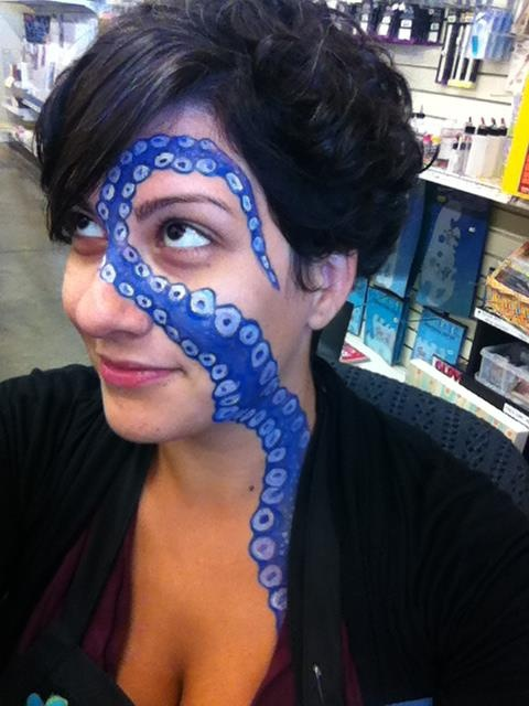 Octopus/Kraken Face paint