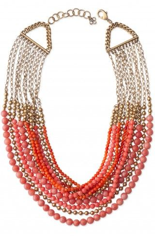 www.stelladot.com/nicolebail    Can't wait to get this necklace on my neck!!!: Coral, Statement Necklaces, Beads Necklaces, Color, Stella Dots, Stelladot, Stella And Dots, Palamino Necklaces, Bibs Necklaces