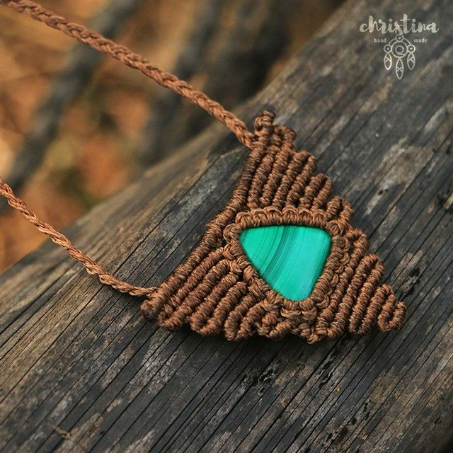 #КристинаОрлова #макраме #украшения #micromacrame #macrame #KristinaOrlova #Jewelry #malachite #Indianthread #thread #handmade #stone #кулон #pendant #necklace #подвеска #малахит