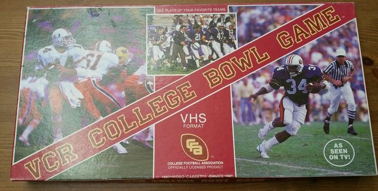 VCR college bowl college football vintage board game 1987 as seen on TV     eBay