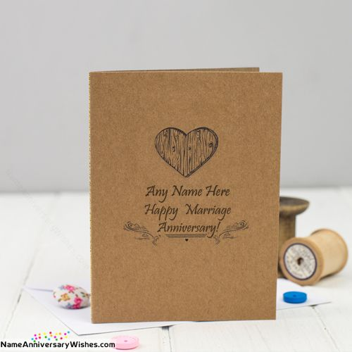 Cool Marriage Anniversary Cards With Name