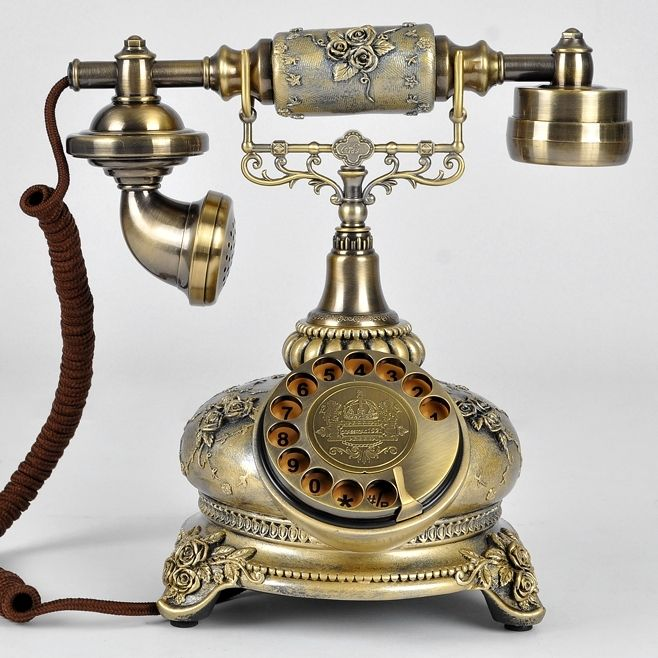 rotating antique telephone swivel plate old telephone fashion phone telephone home decor. Black Bedroom Furniture Sets. Home Design Ideas