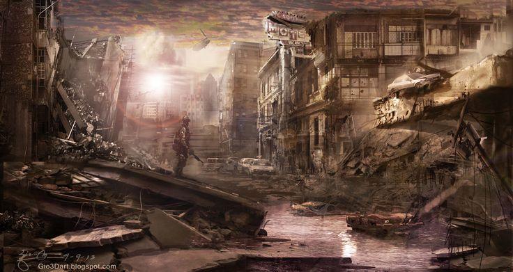 concept art war zone   Concept Art/ Environment Design ...