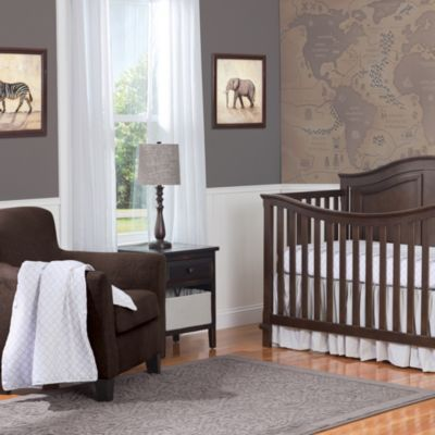 Summer Infant® 4-Piece Frame Geo Classic Bedding Set - buybuyBaby.com - Love the mural on the wall because Baby has the whole world at his/her feet!  Accessorize with or add splashes of color.