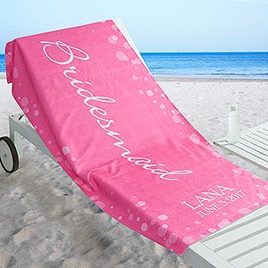 Create lasting Wedding memories with the Bridal Brigade Personalized Beach Towel. Find the best personalized wedding gifts at PersonalizationMall.com