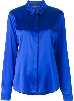 Roberto Cavalli button down shirt - Shop for women's Shirt - BLUE Shirt