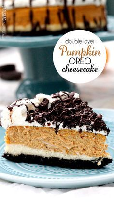 Double Layer Pumpkin Oreo Cheesecake | the ULTIMATE Thanksgiving/Fall dessert…