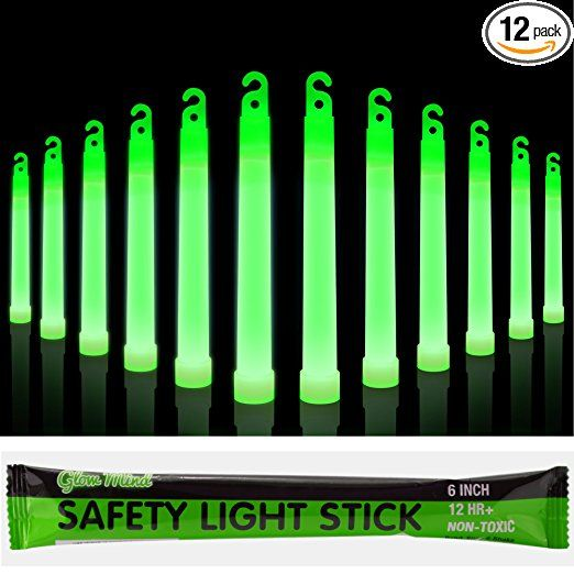 12 Industrial Grade Glow Sticks 6 Ultra Bright Emergency Light Sticks With 12 Hours Duration Green Emergency Lighting Glow Sticks Safety Lights