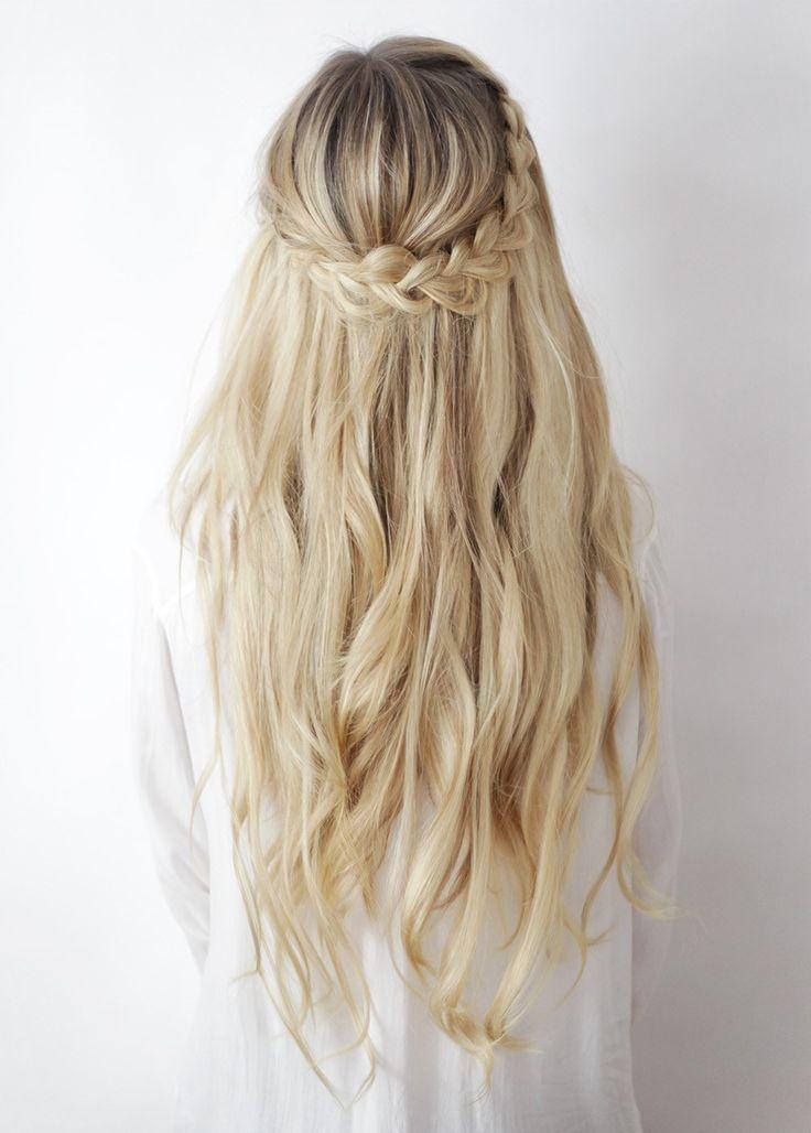 half up boho braids