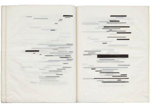 Marcel Broodthaers, Un coup de dés jamais n'abolira le hasard - Édition, d'après le poème de Stéphane Mallarmé, 90 exemplaires sur papier mécanographique transparent, 1969