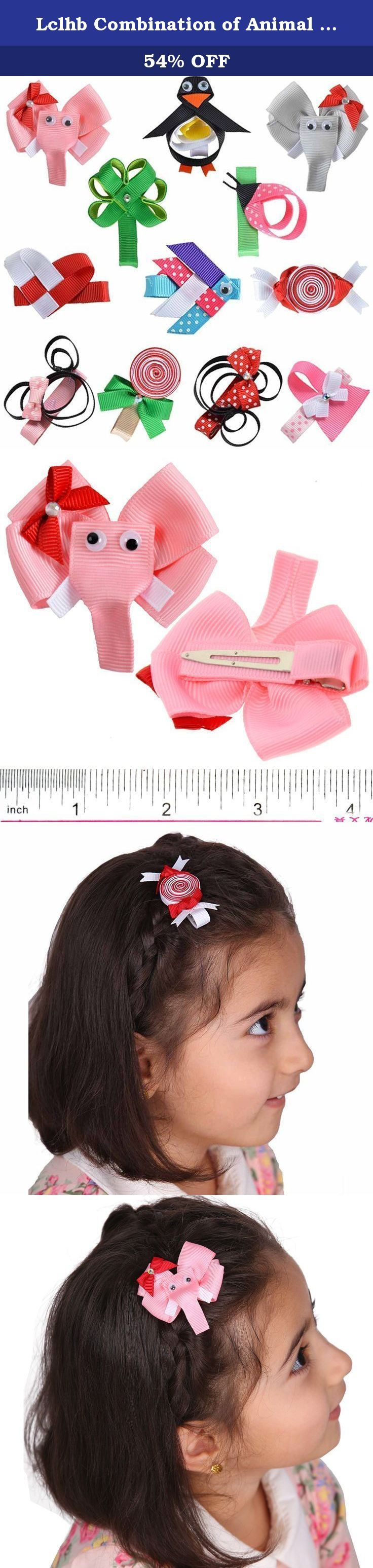 "Lclhb Combination of Animal Fish Candy Hert Kids Hair Bows Baby Hair Clips Hw0103. Description Personalized Products These nice ribbon bows mounted on 1.81"" alligator clips . Sturdy Alligator clips are no teeth which don't hurt your hair and is easier to slide into hair without being caught and stuck. Our fashion hea????????????????????????????????????????????????????????????????????????????????????????????????????????????????????????????????..."