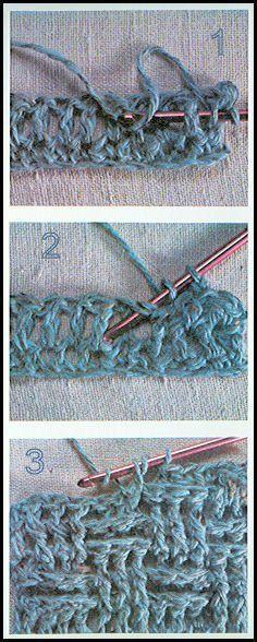 PUNTO CANASTA Siempre quise saber hacer este punto ! // Basket weave crochet stitch...how cool is | http://cuteblankets.blogspot.com