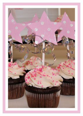 Princess Wand Cupcake Toppers- Made these for my daughters 3rd birthday. They were really easy to make